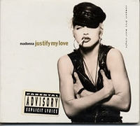 Обложка сингла «Justify My Love» (Мадонны, 1990)