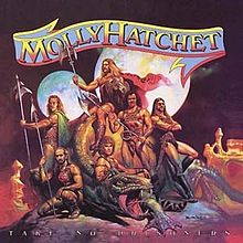 Обложка альбома Molly Hatchet «Take No Prisoners» (1981)