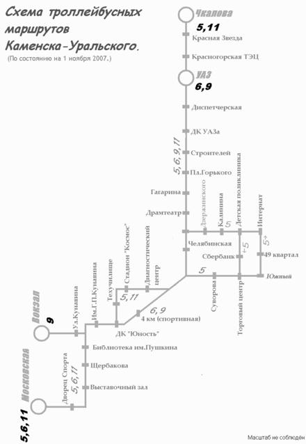 современная схема маршрутов
