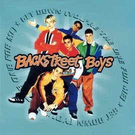 Обложка сингла Backstreet Boys «Get down (you're the one for me)» (1996)