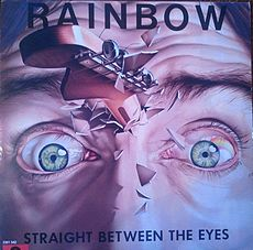 Обложка альбома Rainbow «Straight Between the Eyes» (1982)