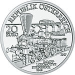 2007 Austria 20 Euro South Railways Vienna-Triest front.jpg