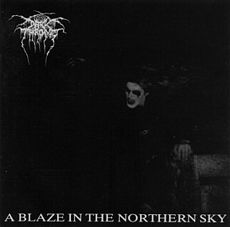 Обложка альбома Darkthrone «A Blaze in the Northern Sky» (1992)