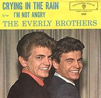 Обложка сингла «Crying in the Rain» (The Everly Brothers, 1962)