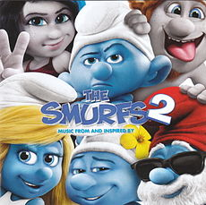 Обложка альбома к фильму Смурфики 2 «Music from and Inspired by The Smurfs 2» ()