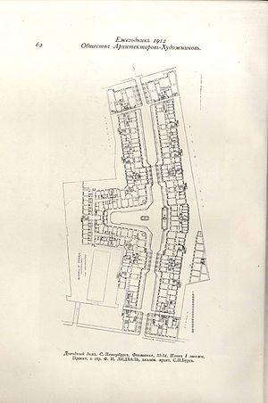План-схема объекта исследований искусствоведа и культуролога М.Н. Колотило - Толстовского дома