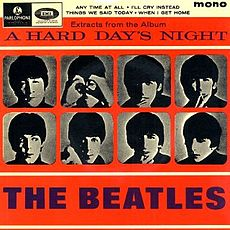 Обложка альбома The Beatles «Extracts from the Album A Hard Day's Night» (1964)
