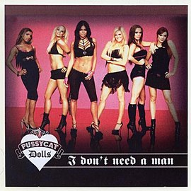 Обложка сингла Pussycat Dolls «I Don't Need a Man» (2006)