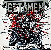 Обложка альбома Testament «Return to the Apocalyptic City» (1993)