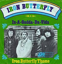 Обложка сингла «In-A-Gadda-Da-Vida» (Iron Butterfly, 1968)
