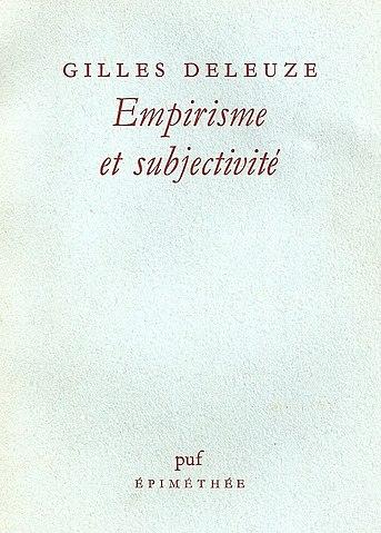 «Эмпиризм и субъективность», издание 1980 года