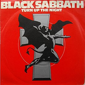 Обложка сингла Black Sabbath «Turn Up the Night» (1981)