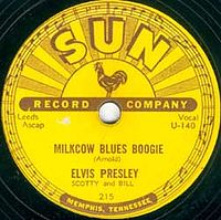 Обложка сингла «Milkcow Blues Boogie» (Элвиса Пресли, 1955)