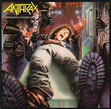 Обложка альбома Anthrax «Spreading the Disease» (1985)