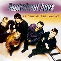 Обложка сингла «As long as you love me» (Backstreet Boys, 1997)