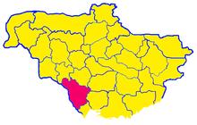 Поднестровье на административно-территориальной карте УНР