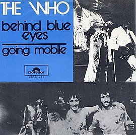 Обложка сингла The Who «Behind Blue Eyes» (1971)
