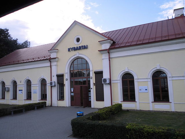 Станция Кибартай, Литва. Здесь прошло детство Левитана. Август 2013г.