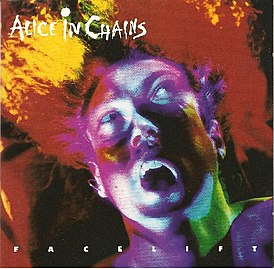Обложка альбома Alice in Chains «Facelift» (1990)