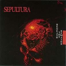 Обложка альбома Sepultura «Beneath the Remains» (1989)