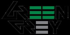 Новый логотип Green Grey с 2013 года, который представляет из себя написание названия группы с использование стилизованных зелёных и серых букв E