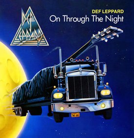 Обложка альбома Def Leppard «On Through the Night» (1980)