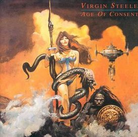 Обложка альбома Virgin Steele «Age of Consent» (1988)