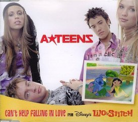 Обложка сингла A*Teens «Can't Help Falling in Love» (2002)