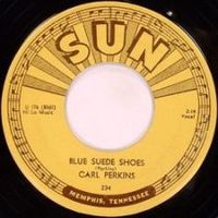 Обложка сингла «Blue Suede Shoes» (Карла Перкинса, 1956)