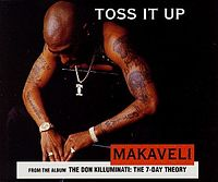 Обложка сингла «Toss It Up» (Makaveli, 1996)