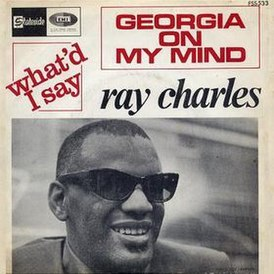 Обложка сингла Рея Чарльза «Georgia on My Mind» (1960)