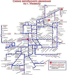 казань схема автобусов:
