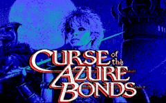 Curse of the Azure Bonds title screen