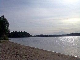 Пляж озера Сапшо