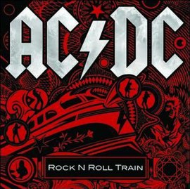 Обложка сингла AC/DC «Rock 'N' Roll Train» (2008)