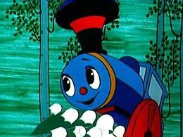 Кадр из мультфильма «Паровозик из Ромашкова»