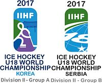 Логотипы 2017 IIHF Ice Hockey U18 World Championship Division II