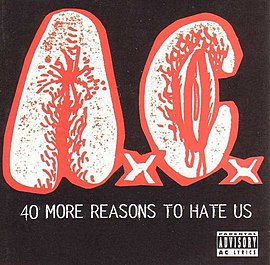 Обложка альбома Anal Cunt «40 More Reasons to Hate Us» (1995)