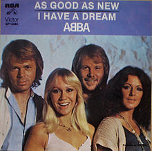 Обложка сингла «As Good as New» (ABBA, 1979)