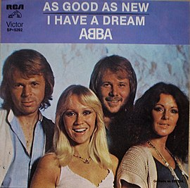 Обложка сингла ABBA «As Good as New» (1979)