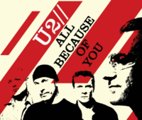 Обложка сингла «All Because of You» (U2, 2005)