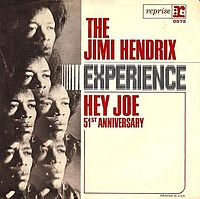 Обложка сингла «Hey Joe» (The Jimi Hendrix Experience, 1966)