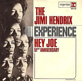 Обложка сингла The Jimi Hendrix Experience «Hey Joe» (1966)