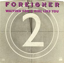 Обложка сингла «Waiting for a Girl Like You» (Foreigner, 1981)