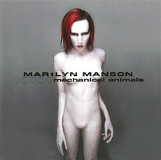Обложка альбома Marilyn Manson «Mechanical Animals» (1998)