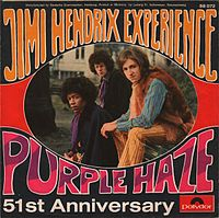 Обложка сингла «Purple Haze» (The Jimi Hendrix Experience, 1967)