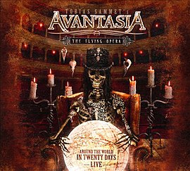 Обложка альбома Avantasia «The Flying Opera - Around The World In Twenty Days» (2011)