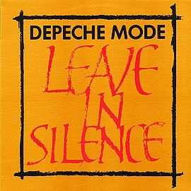 Обложка сингла Depeche Mode «Leave in Silence» (1982)