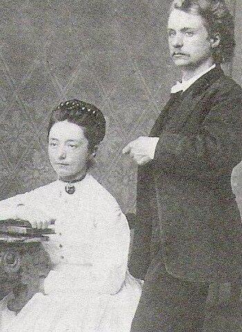 Нина Хагеруп и Эдвард Григ в период помолвки, около 1867г.