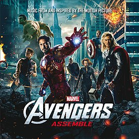 Обложка альбома Различные исполнители «Avengers Assemble: Music from and Inspired by the Motion Picture» (2012)